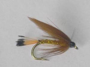 Cinnamon & gold wet fly