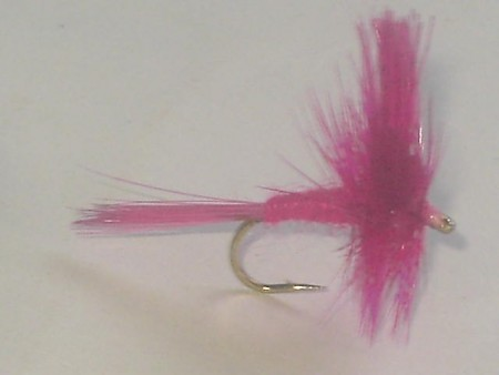 Pink cahill dry fly
