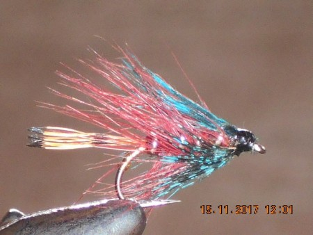 Claret bumble wet fly