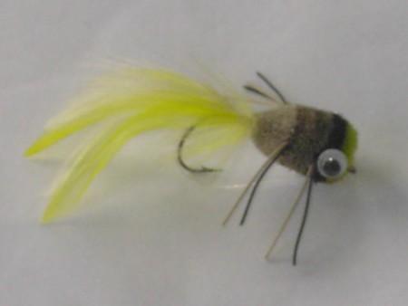 Deer popper yellow white