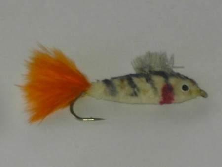 Muddler natural bass fly